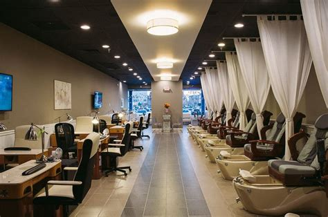 nail salon spa nails interior salons beauty decor md designs annapolis business pedicure studio luxury ceiling joystudiodesign hair room decorating