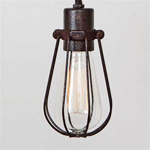 Cage only oval wire bulb pendant sold separately