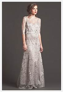 grey lace wedding dress by sarah seven wedding dresses With grey dress for wedding