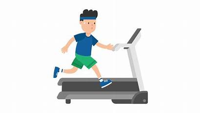 Cartoon Exercise Treadmill Clipart Svg Animated Exercising