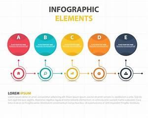 Modelo Infogr U00e1fico De Neg U00f3cios De C U00edrculos Abstratos Coloridos