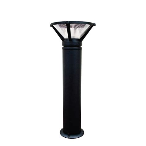 120v powder coated cast aluminum bollard with clear
