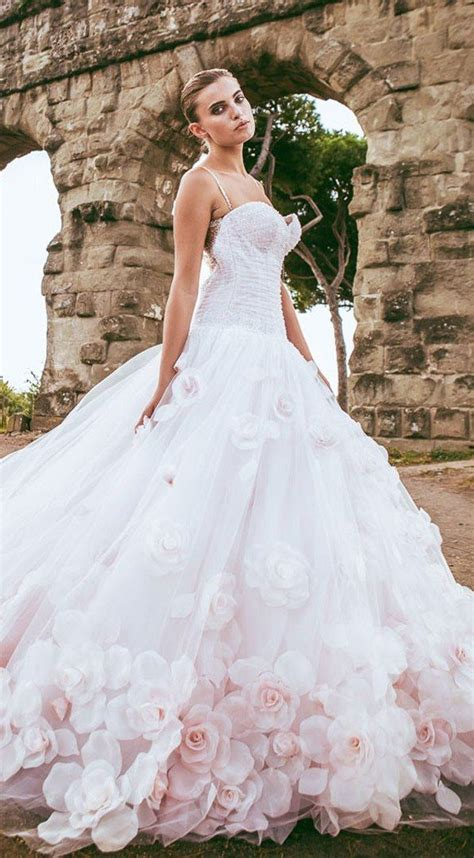 floral wedding gown ideas  pinterest floral