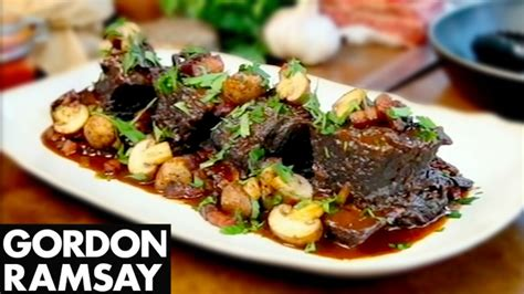 slow cooked beef short ribs gordon ramsay youtube