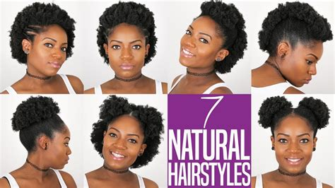 natural hairstyles  short  medium length bc