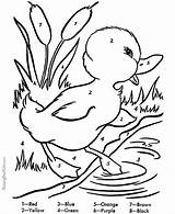 Coloring Easter Pages Duck Printable Duckling Ducks Pond Colouring Sheets Spring Number Worksheets Raisingourkids Bunny Ducklings Numbers Activities Adults Printing sketch template
