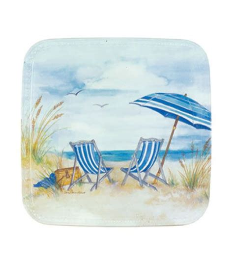 beach decor plastic melamine plates  nautical beach theme  keller charles beach decor