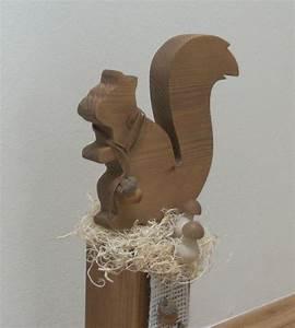 Eichhörnchen Aus Holz : eichh rnchen holzpfosten herbstdeko 43 cm von die deko werkstatt auf wood ~ Orissabook.com Haus und Dekorationen