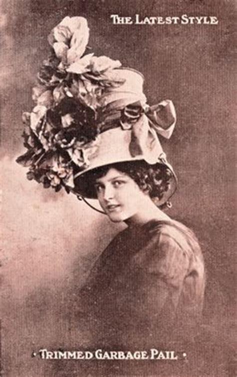 vintage clip art lady  surprising hat