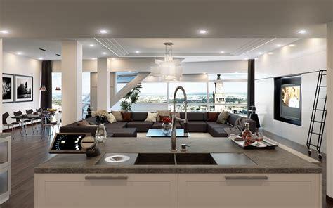 kitchen living room design 奢华创意时尚装修设计图片桌面壁纸 家居壁纸 壁纸下载 美桌网 5387