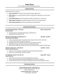 production resume template resume builder