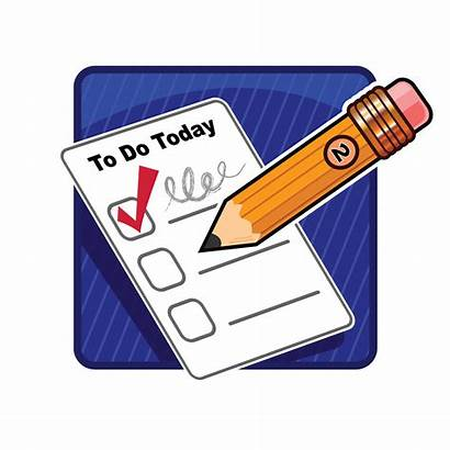 Clipart Things Clip Lists Cliparts Liste Checklist