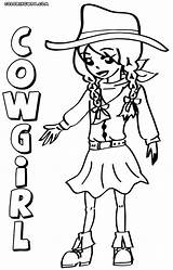 Cowgirl Coloring Pages Print Colorings Coloringway sketch template