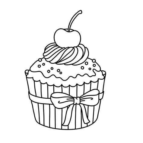 Kleurplaat Tekenen by Cupcakes 0003 Tekenen Dibujos De Cupcakes