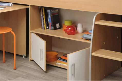 lit avec bureau intégré lit combiné avec rangement bureau intégré novomeuble