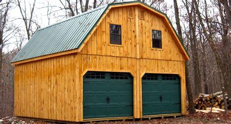 raised roof garage  metal gambrel roof