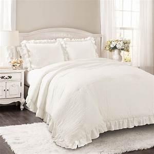 Reyna, Comforter, White, 3pc, Set, Full, Queen