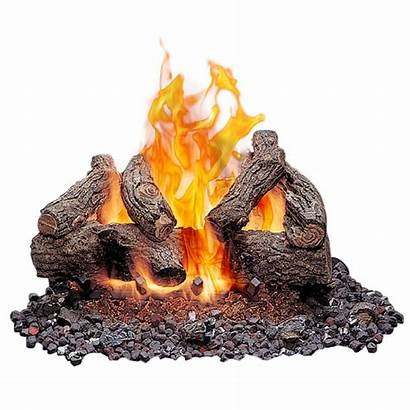 Logs Burning Wood Gas Outdoor Vented Clipart