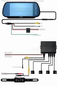 Wireless Bluetooth Lcd Mirror 4 Parking Sensors Car