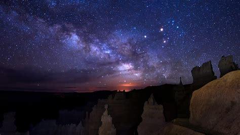 bryce night sky timelapse  youtube