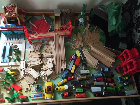 brio train table with drawers wooden train table with huge collection of track trains