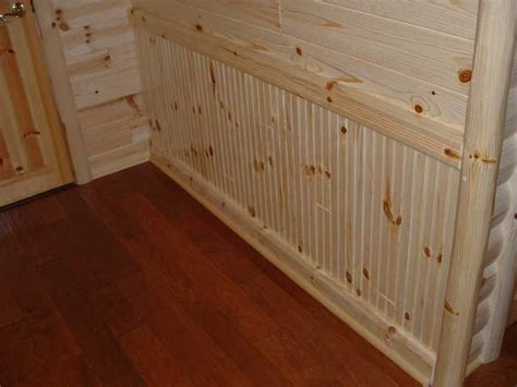 How To Hang Wainscoting Panels by Beadboard Pine Paneling Wainscoting Beaded Chair Rail