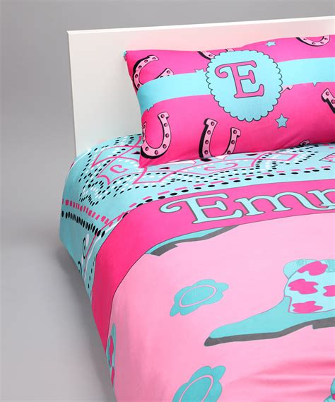 cowgirl duvet cover set personalized baby n toddler