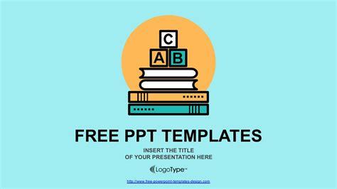 alphabet blocks  education concept powerpoint template