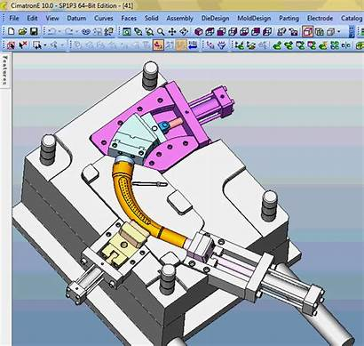Core Pulling Slide Mechanism Animation Mould Gate
