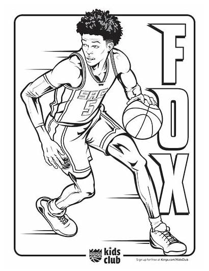 Coloring Pages Kings Lakers Nba Spurs Antonio