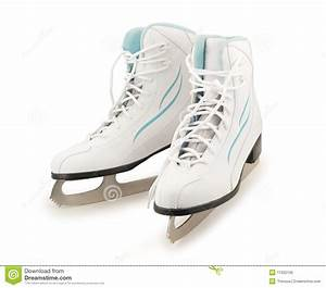 Pair Of Figure Ice Skates Royalty Free Stock Image - Image ...