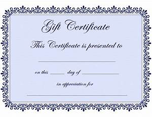 Free Certificate Template Certificate Templates Gift Certificate Template Free PDF Projects To Try Pinterest