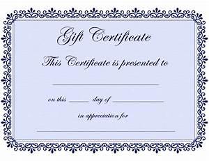 Free Certificate Template Certificate Templates Gift Certificate Template Free PDF Projects To Try Pinterest