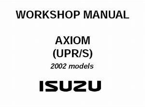 2002 Isuzu Axiom  Upr  S  Service Repair Manual  U2013 Service