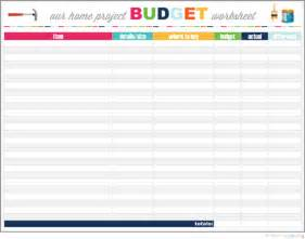 Sle Of Budget Sheet by Iheart Organizing Our Project Budget Worksheet And A Freebie