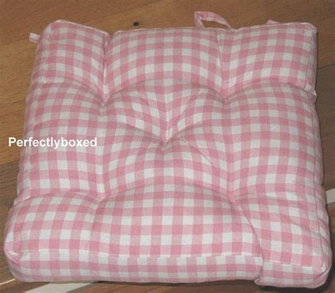 Pink Gingham Seat Pads at www.perfectlyboxed.com