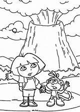 Volcano Coloring Dora Erupting Volcanoes Colouring Volcanos Netart Trending Days sketch template