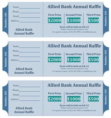 raffle ticket templates follow  steps