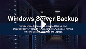 Windows Server Backup Solution - Vembu