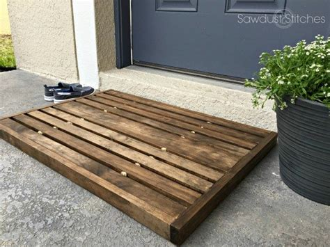 Wood Doormat by Wooden Doormat Sawdust 2 Stitches