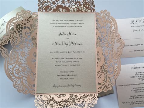 laser cut wedding invitations laser cut wedding invitations