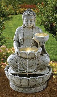 superbe statue de bouddha zen jardin 73 cm pas cher