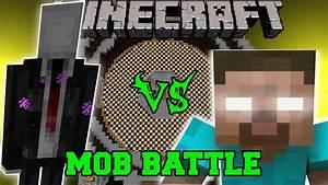 SLENDERMAN VS HEROBRINE - Minecraft Mod Battle - Mob ...