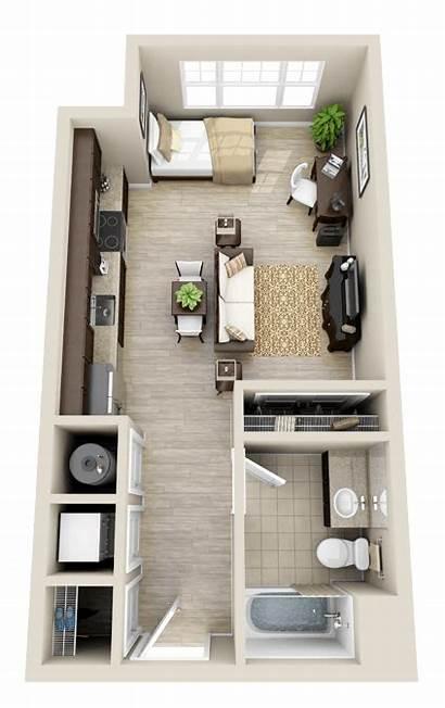 Studio Apartment Floor Garage Layout Plans Plan