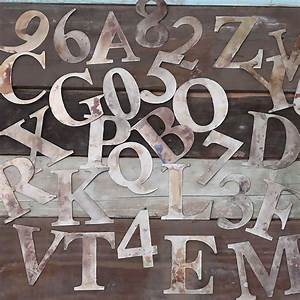 small metal letters and numbers by rocket and fox With small metal alphabet letters