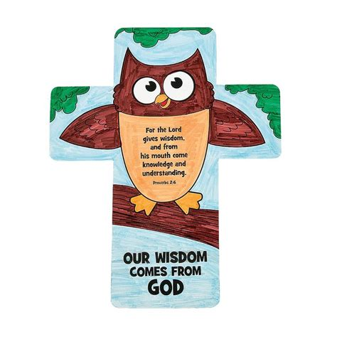 color your own our wisdom comes from god bookmark 970   cfe507352bdbadea51bd0b6c35b14371