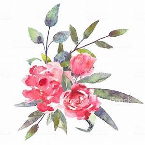 Bilder Von Blumenstrauß : aquarell blumen bl tter blumenstrau stock vektor art und mehr bilder von altert mlich istock ~ Buech-reservation.com Haus und Dekorationen