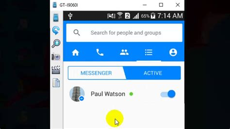 how to turn chat in messenger android app