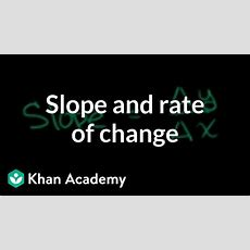 Slope And Rate Of Change Youtube