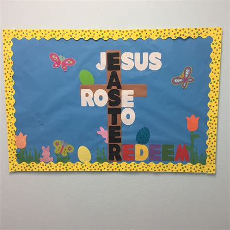361 best classroom decoration ideas images on 785 | 2e395fa4806a24353628128739f5f4ef easter sunday school bulletin board easter christian bulletin boards